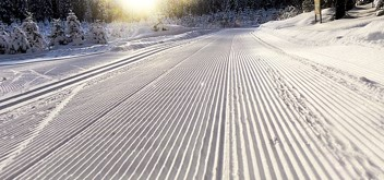 Groomed cross-country ski trail