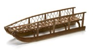 Model of a wooden sled with runners