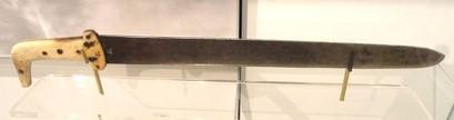 metal snow knife with bone(?) handle