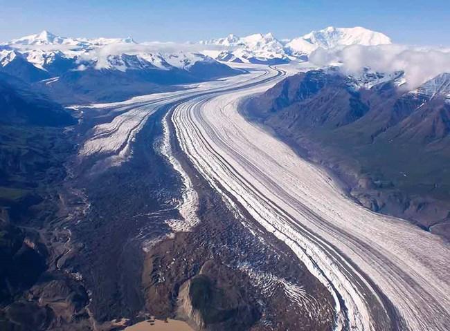 aerial view of Nabesna Glacier