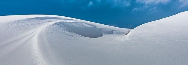 large snow dunes